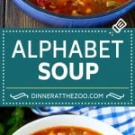 Alphabet Soup Recipe | Hamburger Soup | Beef and Vegetable Soup #soup #hamburger #noodles #dinner #dinneratthezoo #carrots