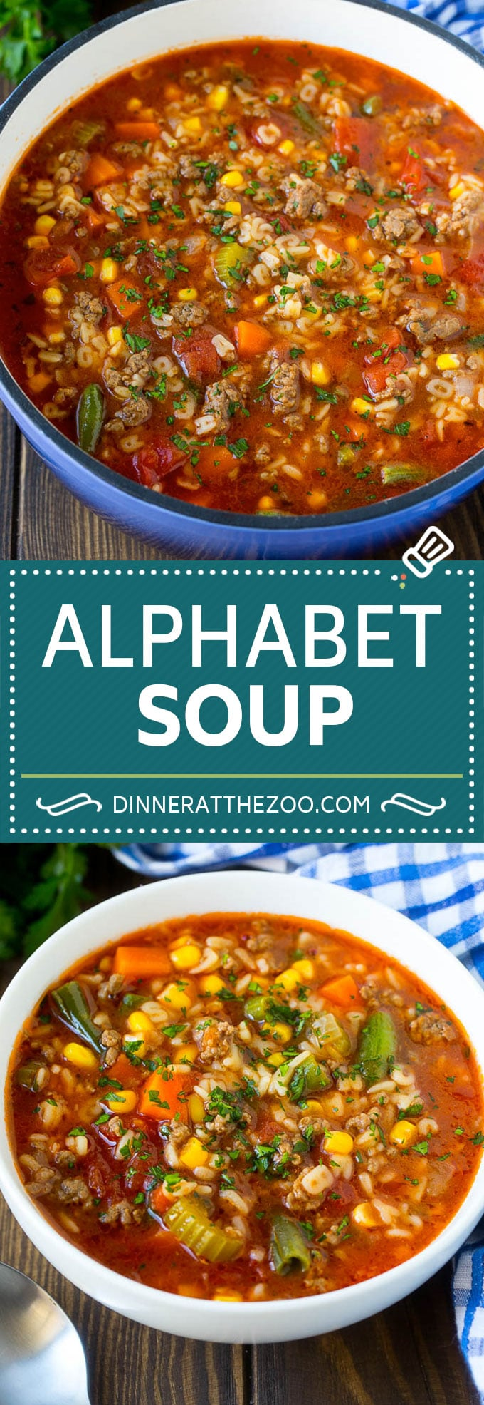 Alphabet Soup Recipe | Hamburger Soup | Beef and Vegetable Soup #soup #hamburger #noodles #dinner #dinneratthezoo #carrots