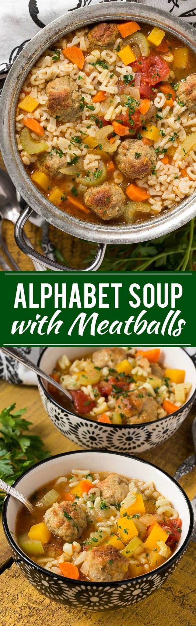 Alphabet Noodle Soup with Turkey Meatballs Recipe | Best Alphabet Noodle Soup | Best Meatball Soup | Easy Alphabet Noodle Soup