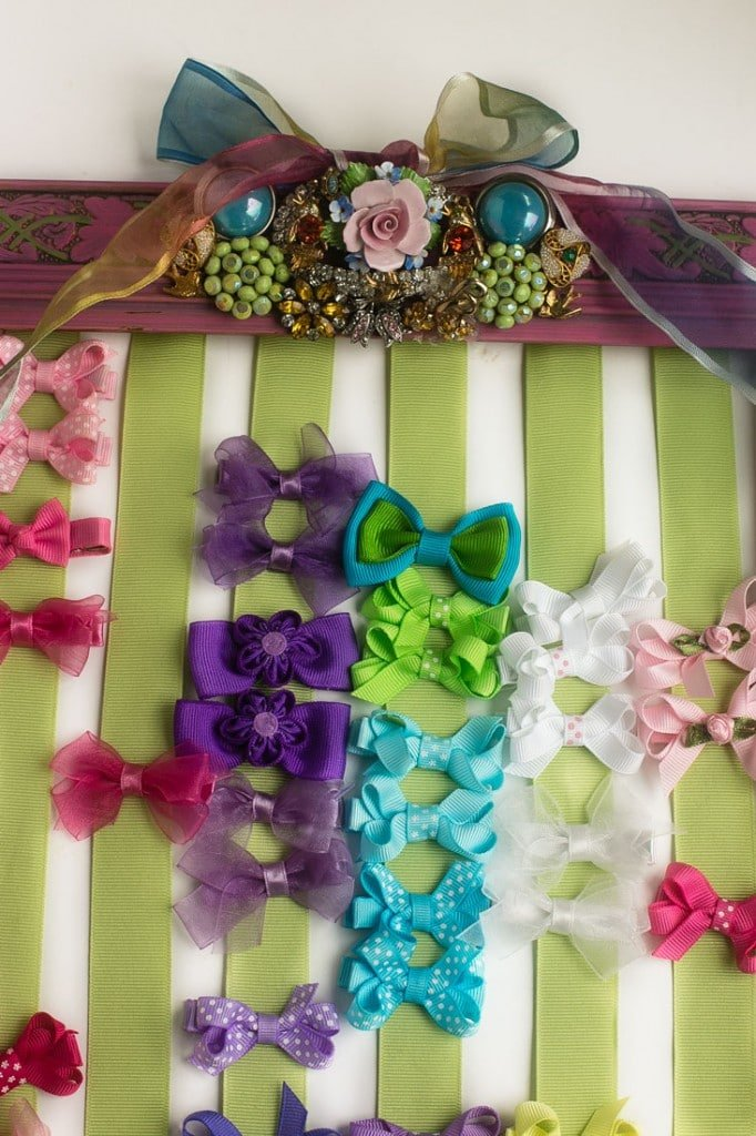Diy Hair Bow Holder Tutorial Dinner At The Zoo
