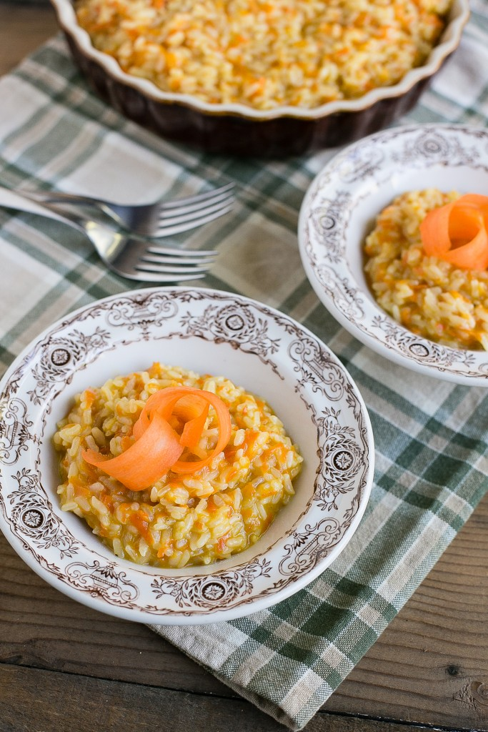 This carrot parmesan risotto is a complete meal in one pot.