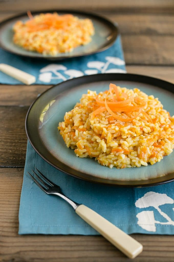 Parmesan Carrot Risotto (Carrot Rice) - Dinner at the Zoo