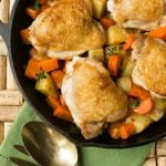 One Pot Braised Chicken Thighs with Carrots and Potatoes