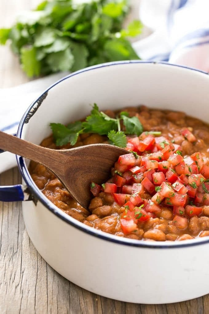 These Easy Mexican Pinto Beans and Rice are the perfect sides for your Mexican meal.