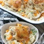 One Pot Oven Chicken and Rice Bake