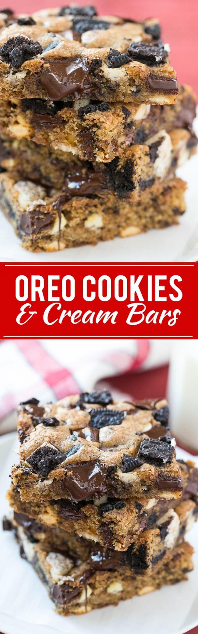 Oreo Cookies and Cream Bar | Best Oreo Bar | Best Cookie Bar | Cookies and Cream Bar