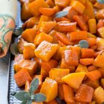 This Oven Roasted Butternut Squash with Root Vegetables and Honey is a mixture of squash, carrots and sweet potatoes tossed in a honey glaze and roasted to perfection.