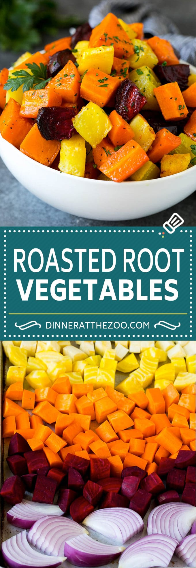 Roasted Root Vegetables Recipe | Roasted Sweet Potatoes | Roasted Beets | Roasted Carrots #carrots #beets #vegetables #sweetpotatoes #fall #parsnips #sidedish #dinneratthezoo #cleaneating #healthy