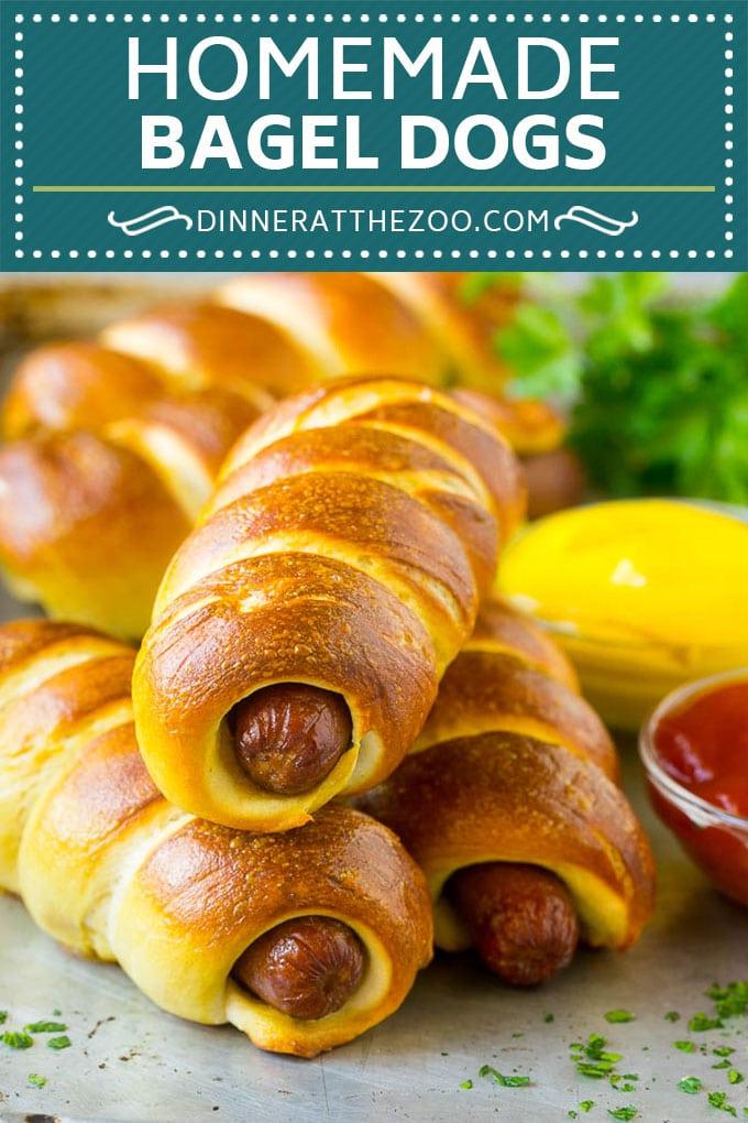 Bagel Dogs Recipe | Hot Dogs #bagel #hotdogs #dinner #lunch #dinneratthezoo