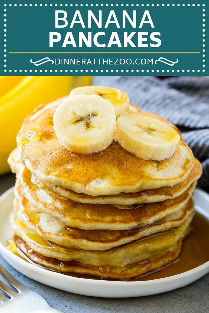 Banana Pancakes Recipe | Easy Pancakes | Pancake Recipe #pancakes #banana #breakfast #brunch #dinneratthezoo