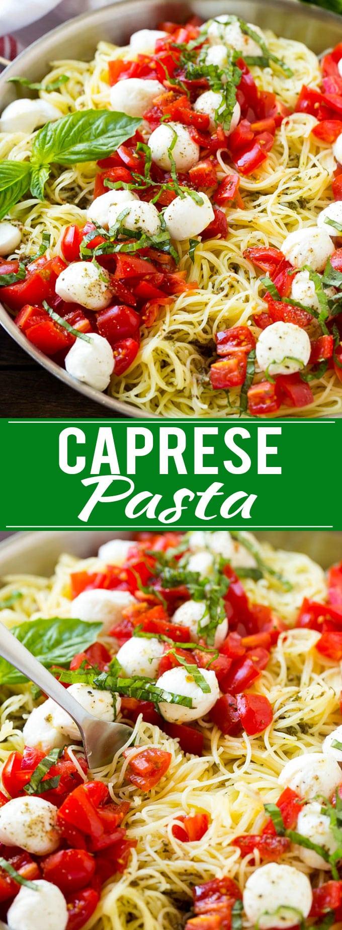 Caprese Pasta Recipe | Easy Pasta Recipe | Fresh Tomato Pasta | Caprese Recipe #caprese #pasta #tomato #dinner #dinneratthezoo