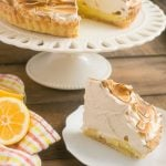 The ultimate lemon dessert - lemon tart with toasted brown sugar meringue.
