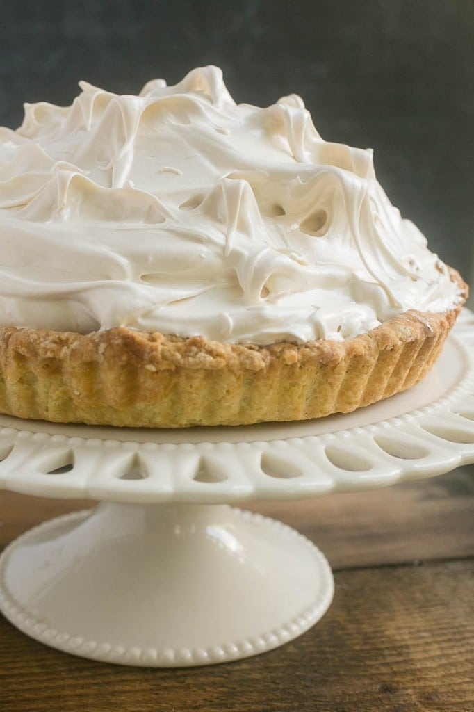The ultimate lemon dessert - lemon tart with toasted brown sugar meringue.