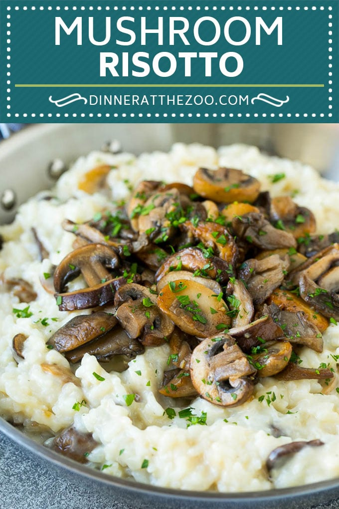 Mushroom Risotto Recipe | Mushroom Rice | Easy Risotto #rice #mushrooms #sidedish #glutenfree #dinner #dinneratthezoo