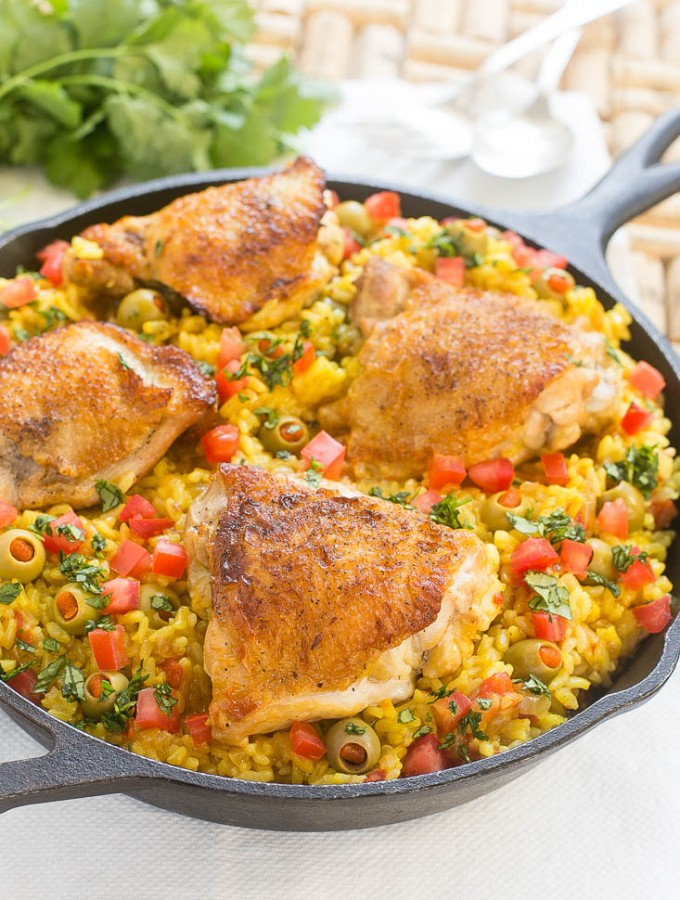 Spanish Arroz con Pollo (Chicken with Rice)