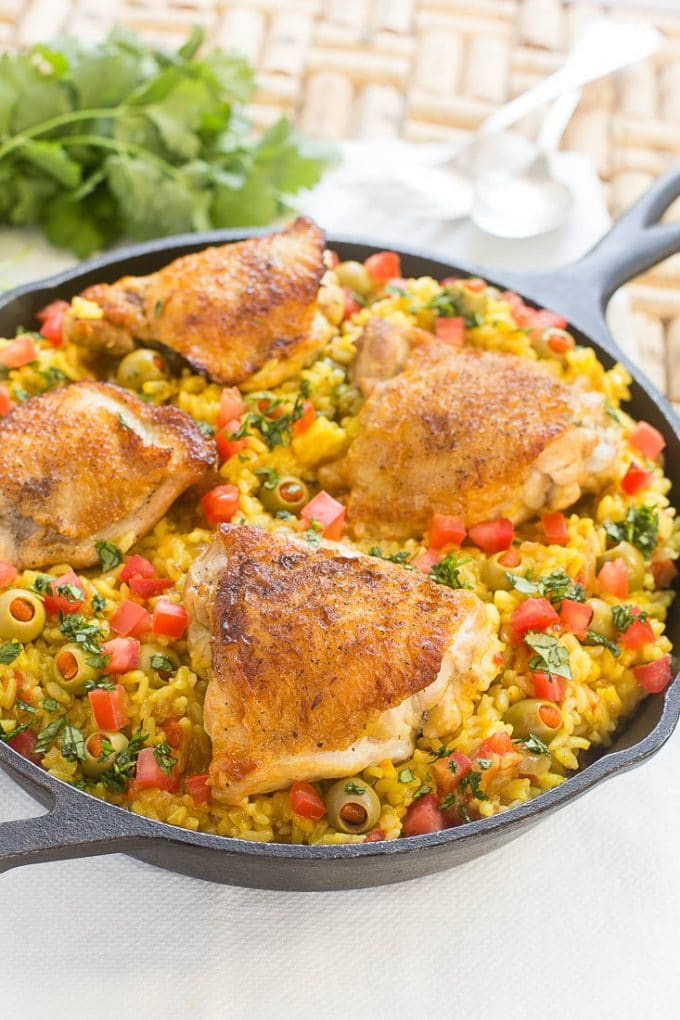 Spanish Arroz Con Pollo Chicken With Rice Dinner At The Zoo
