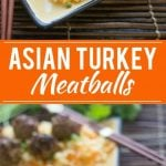 This recipe for asian turkey meatballs with carrot rice is a quick, delicious and healthy dinner for those busy weeknights.
