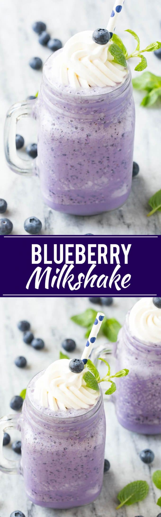 Blueberry Milkshake Recipe | Healthy Blueberry Milkshake | Light Blueberry Milkshake | Easy Blueberry Milkshake