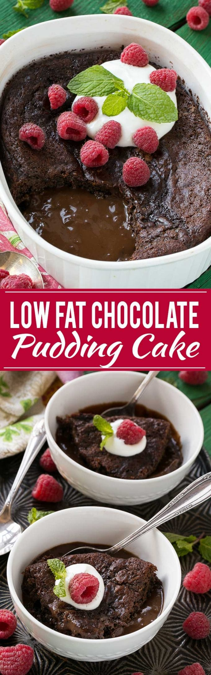 A quick and easy chocolate pudding cake that also happens to be low fat.