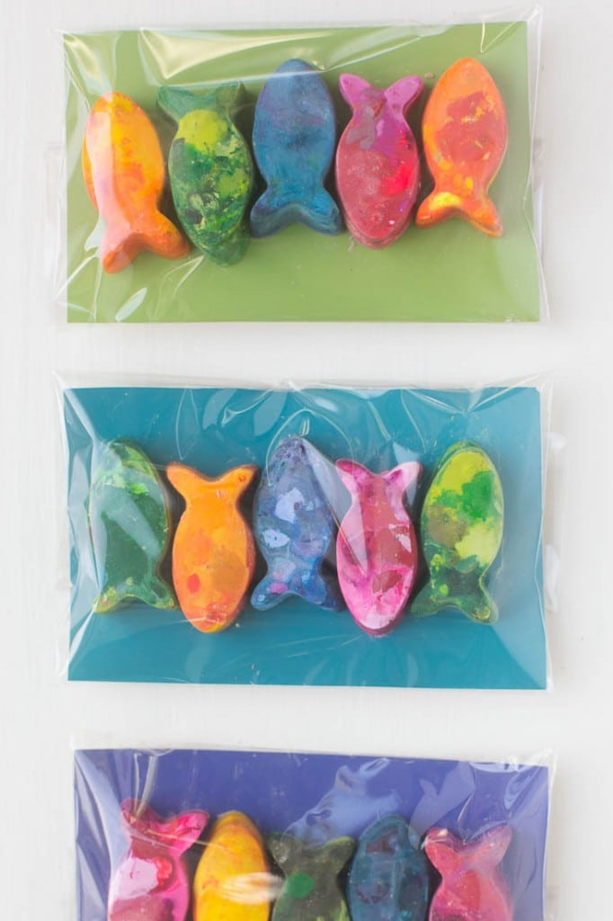DIY Marble Crayons for party favors - Under the Sea birthday party