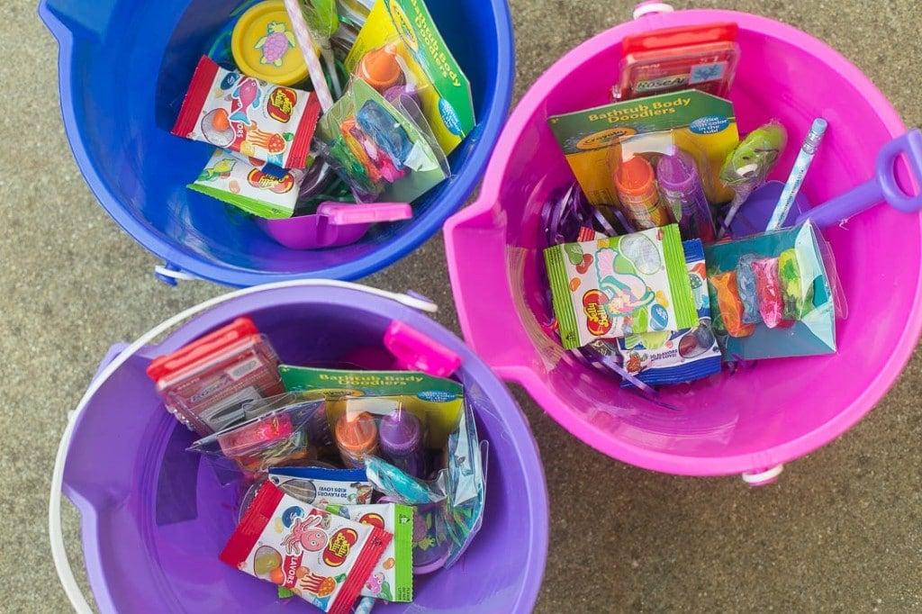 Treat buckets - Under the Sea birthday party