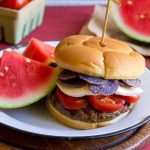 This red, white and blue patriotic burger is the perfect addition to your 4th of July barbecue!