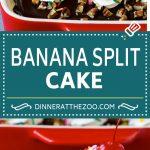Banana Split Cake Recipe | No Bake Cake | Banana Split Dessert #banana #chocolate #nobake #cake #cheesecake #dinneratthezoo