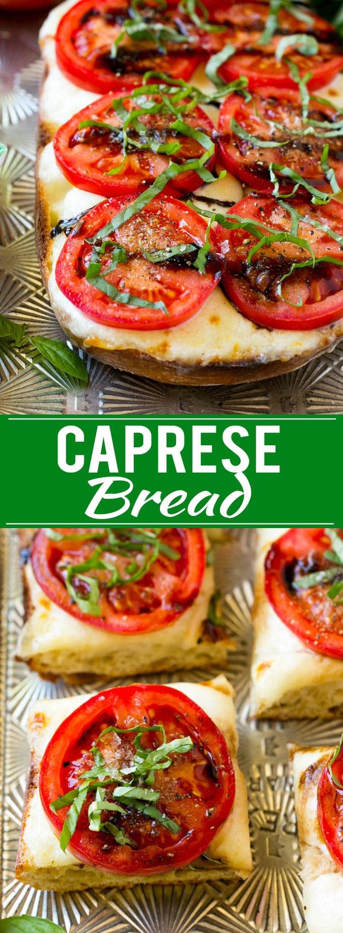 Caprese Bread Recipe | Tomato Bread | Cheese Bread #caprese #capresebread #tomatobread #cheesebread #appetizer #dinneratthezoo