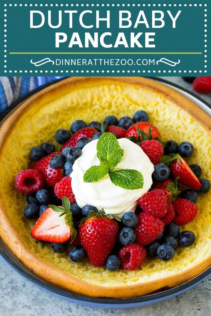 Dutch Baby Pancake Recipe | Puffed Pancake | Skillet Pancake #pancakes #breakfast #brunch #dinneratthezoo