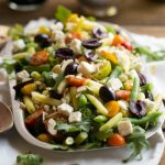 Mediterranean farro salad + tips to make your salads taste like they came from a restaurant.