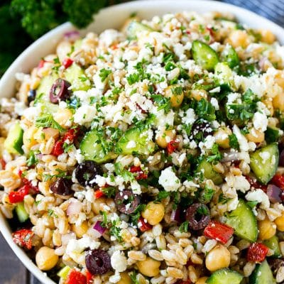 Farro Salad with Feta