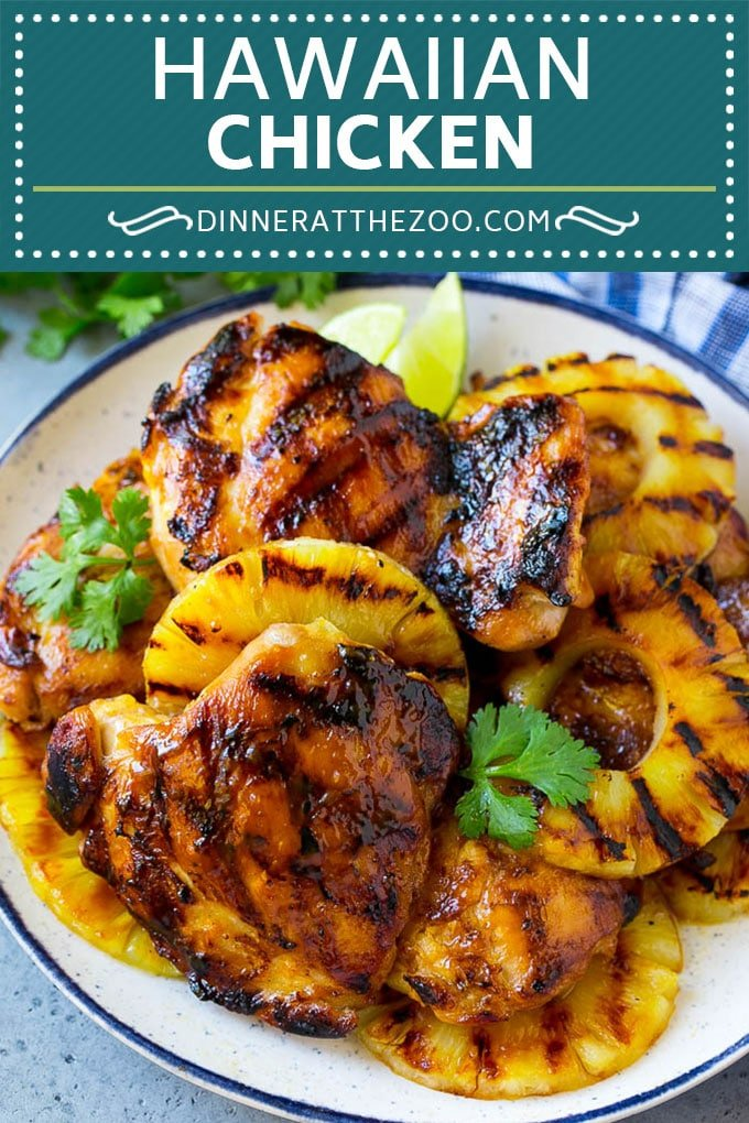 Hawaiian Chicken Recipe | Grilled Chicken | Pineapple Chicken #chicken #grilling #dinner #pineapple #dinneratthezoo