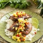 Hawaiian Grilled Chicken with Pineapple Salsa