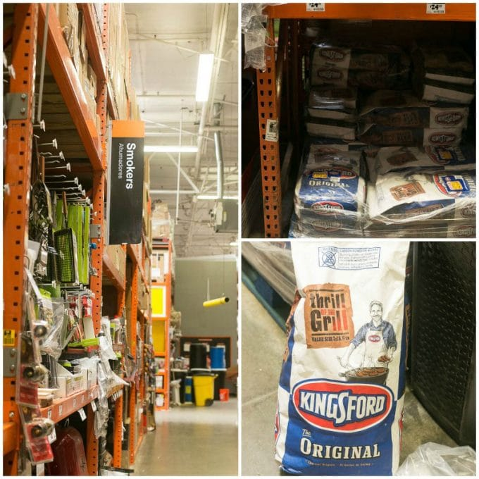 Kingsford charcoal at Home Depot. Ad
