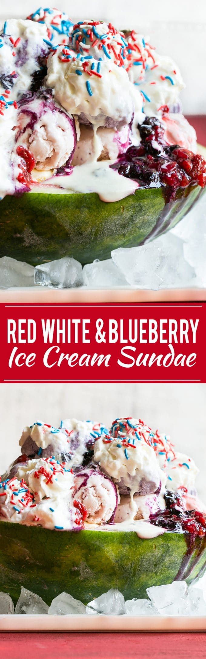Red White and Blueberry Sundae Recipe | Blueberry Sauce Sundae | Strawberry Sauce Sundae | Marshmallow Topping Sundae | Strawberry Blueberry Marshmallow Sundae
