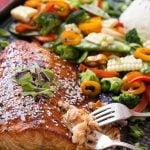 Hoisin Lime Glazed Salmon with Mixed Vegetables