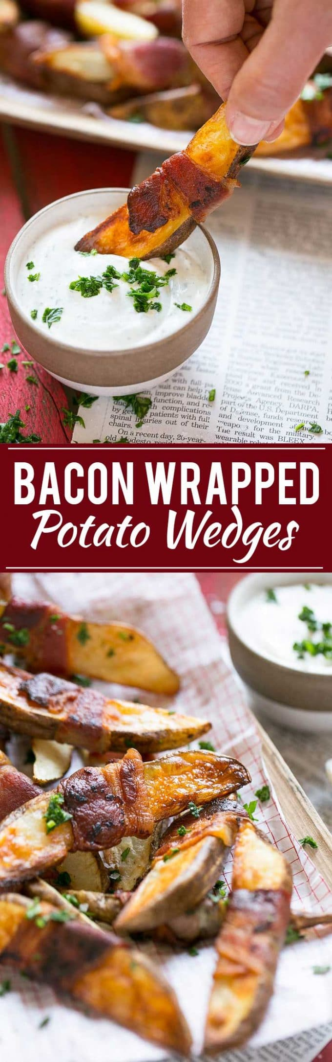 Bacon Wrapped Potato Wedges Recipe | Best Potato Wedges | Bacon Wrapped French Fries | Bacon Potato Wedges
