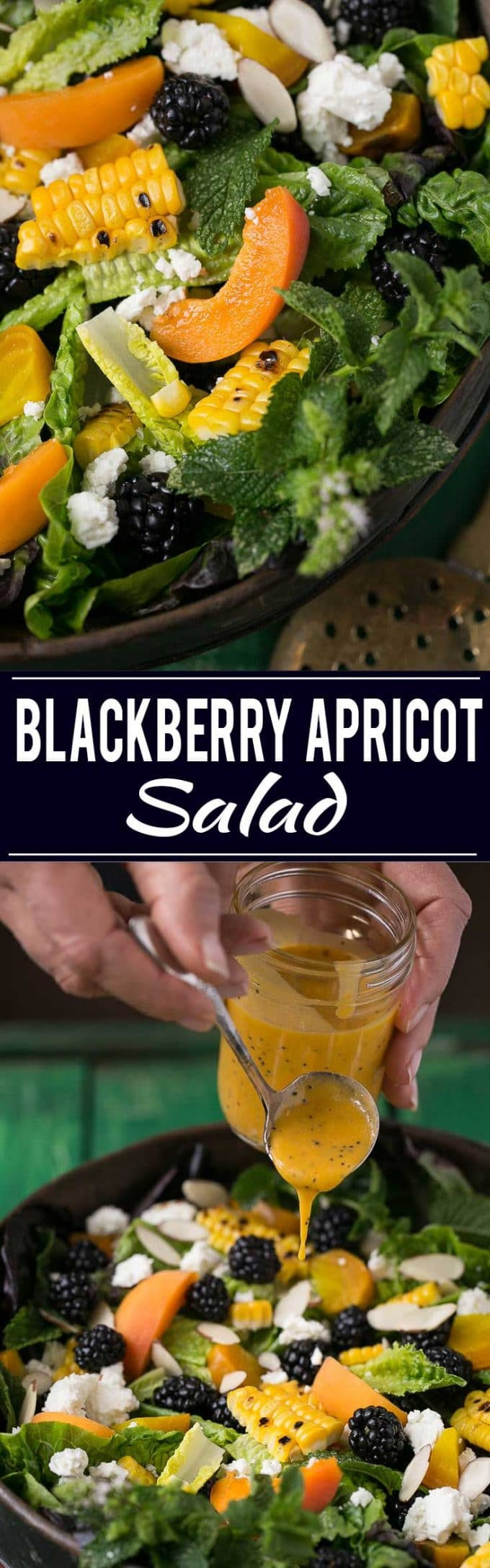 Blackberry Apricot Salad Recipe | Blackberry Apricot Salad | Summer Salad | Poppyseed Dressing Recipe | Best Poppyseed Dressing