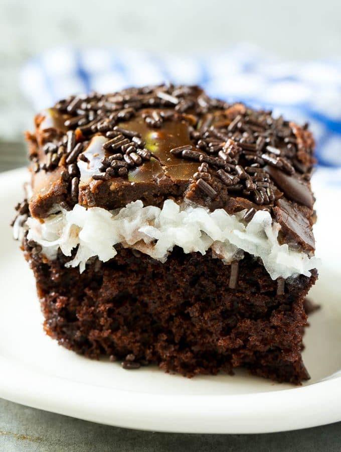 Chocolate Coconut Marshmallow Cake