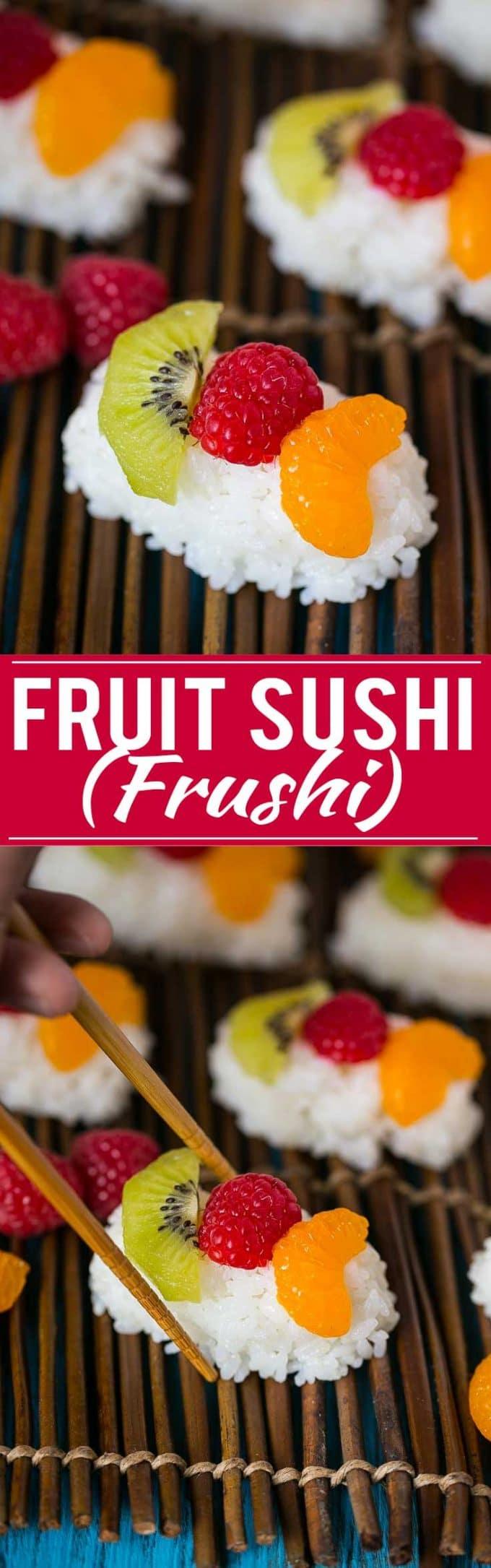 Fruit Sushi (Frushi) Recipie | Fruit Sushi Recipe | Frushi Recipe | Best Fruit Sushi | Dessert Sushi Recipe