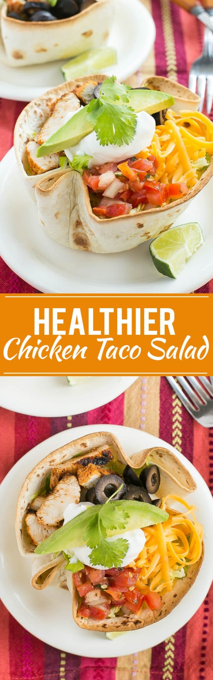 Healthy Chicken Taco Salad Recipe | Easy Chicken Taco Salad | Best Chicken Taco Salad | Chicken Taco Salad With Creamy Cilantro Dressing | Creamy Cilantro Dressing
