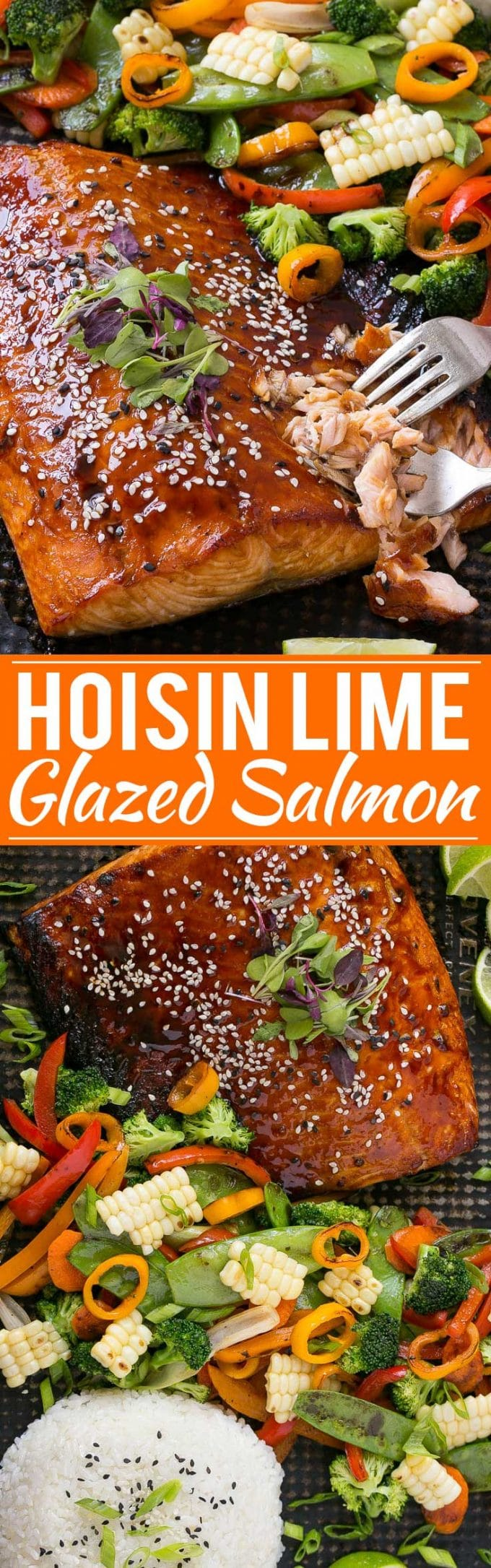 Hoisin Lime Glazed Salmon Recipe | Asian Salmon Recipe | Hoisin Lime Glazed Salmon and Mixed Vegetables | Asian Lime Glazed Salmon | Asian Glazed Salmon | Best Asian Glazed Salmon | Chinese Glazed Salmon