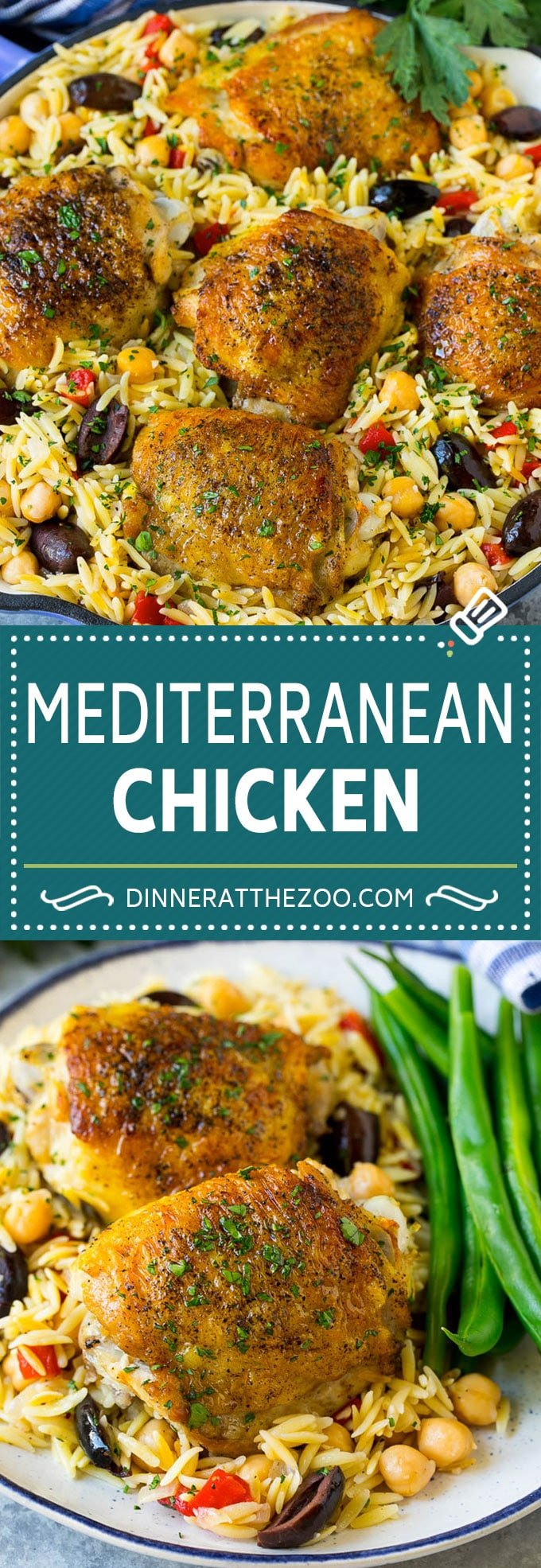 Mediterranean Chicken Recipe | One Pot Chicken #chicken #pasta #healthy #onepot #dinner #dinneratthezoo