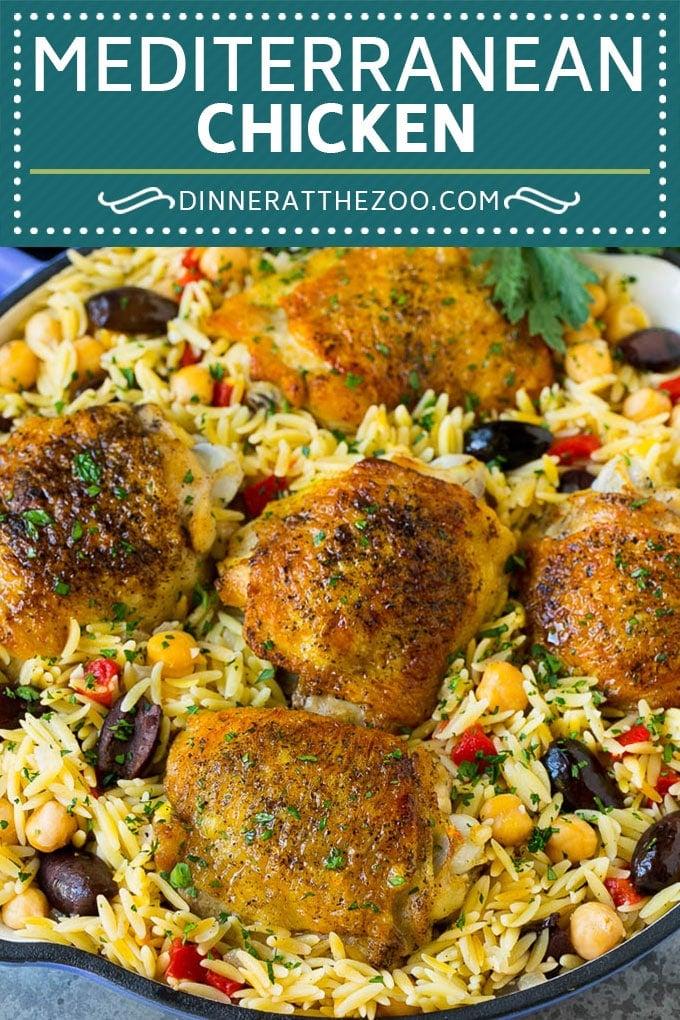 Mediterranean Chicken Recipe   One Pot Chicken #chicken #pasta #healthy #onepot #dinner #dinneratthezoo