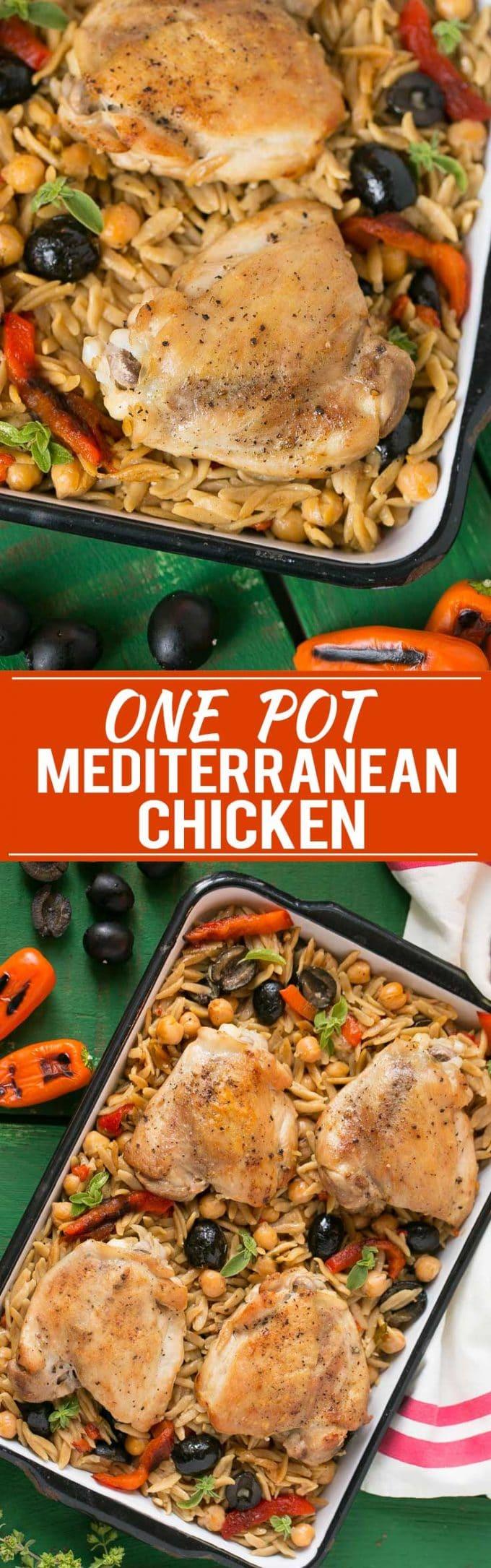 One Pot Mediterranean Chicken Recipe | Olive Mediterranean Chicken | Greek Olive Chicken | Easy Mediterranean Chicken