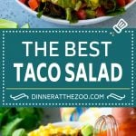 Taco Salad Recipe | Beef Taco Salad | Mexican Salad #salad #taco #beef #lunch #avocado #dinner #dinneratthezoo