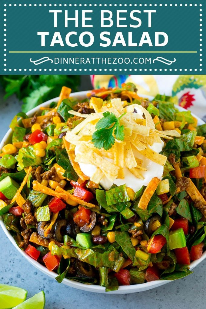 Taco Salad Recipe | Beef Taco Salad | Mexican Salad #salad #taco #beef #lunch #avocado #dinner #dinneratthezoo