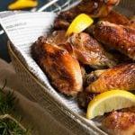 These super crispy lemon chicken wings are baked not fried, the secret is in the special brine.