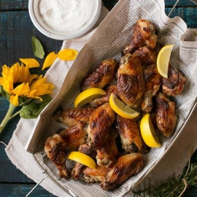 Lemon Chicken Wings