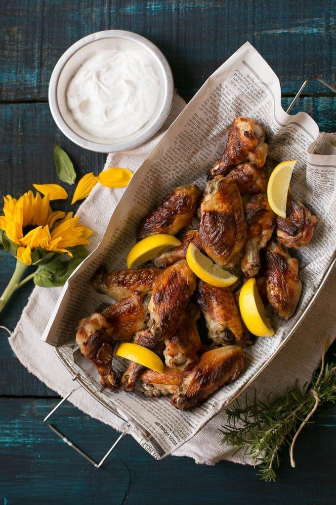 Crispy Lemon Chicken Wings - Dinner at the Zoo